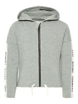 NAME IT Mädchen Sweatjacke Kapuzenjacke Übergangsjacke Hoodie Grau 134 bis 164 - Mädchen Kapuzenjacke Jacke