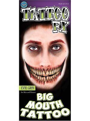 Evil Face Tattoos (Loftus International FX Evil Grin Tinsley Face)