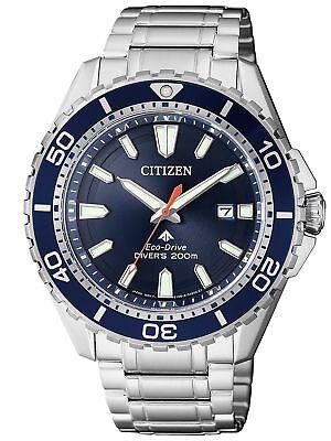 Citizen Eco-Drive Promaster Marine 200m Dive Watch. ISO 6425 Cert BN0191-80L
