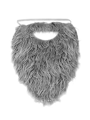 Fake Grey Beard (Fake Beard Hair Strap On Accessory Costume Adult Child Pirate Santa Claus)