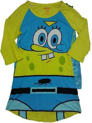 Womens Nickelodeon SpongeBob SquarePants Caped Night Gown Sleep Shirt