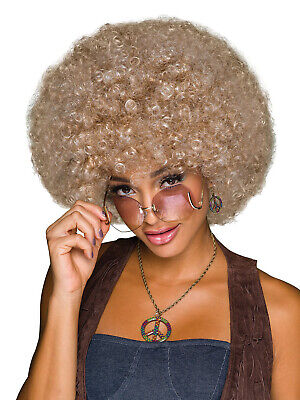 Ladies 70s Afro Wig Adults Disco Blonde Brown Fancy Dress Costume Accessory - Afro Diva Kostüm