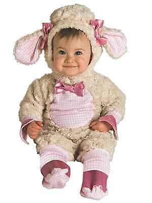 Rubies Infant Girls Plush Ivory Lamb Costume Baby Sheep Halloween Jumpsuit