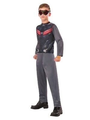 Falcon Marvel Halloween Costume (Marvel Civil War Boys Falcon Halloween Costume Jumpsuit &)