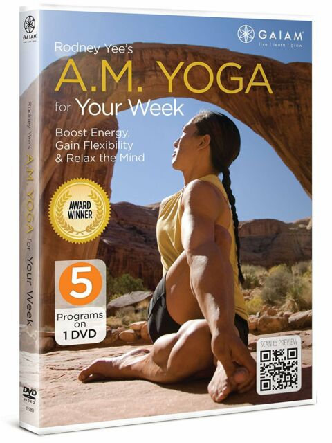 AM YOGA FOR YOUR WEEK (Rodney Yee) - DVD - Region Free - Sealed