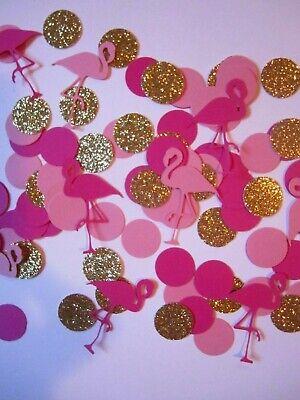 Flamingo Confetti, party supplies, decorations, birthday party, 150 pieces (Flamingo Decorations)