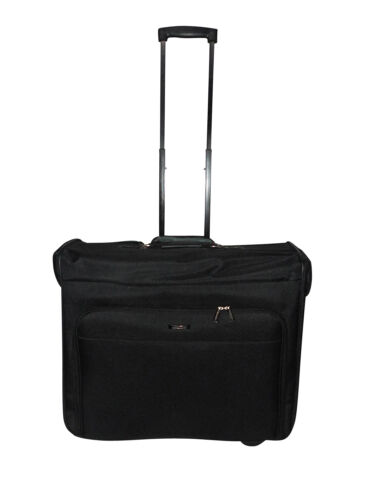 Rolling Garment bag on wheel, Garment travel bag suitcase with inside pockets.