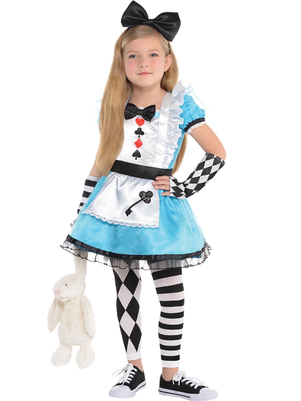 Mädchen 4 Teile Alice Im Wunderland Welt Buch Tag Kostüm ...