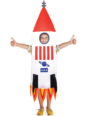 Girls Space Costumes (Childs Rocket Ship Costume Boys Girls Space Fancy Dress Kids Novelty)