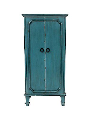 Jewelry Armoire Cabinet Tall Storage Chest Organizer Stand Mirrored Lift Up Lid