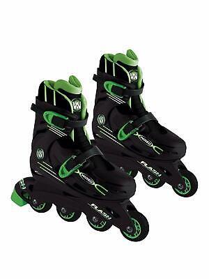 b6b971255caf Wired Flash Adjustable Inline Skates 13-3 Black Green