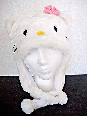 New HELLO KITTY plush hats beanie for adults kids Halloween costume cosplay  - Kitty Costumes For Adults