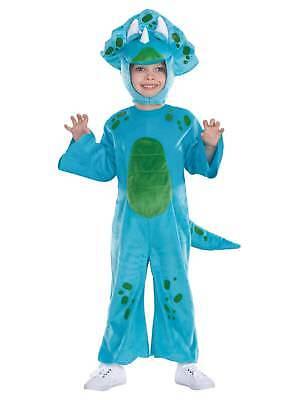 Toddler Boys Blue Lil Dino Costume Dinosaur Jumper & Hat 2T-4T - Toddler Dino Costume