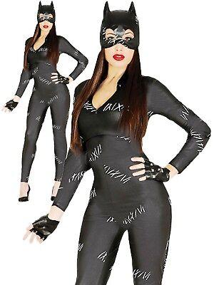 CARNEVALE HALLOWEEN VESTITO CAT WOMAN TAGLIA S/M ADULTO - Spandex Catwoman Kostüme