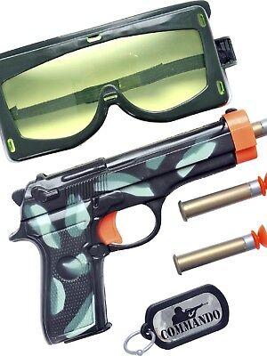 Jungen Mädchen Militär Armee Soldaten Swat Fbi Kostüm Spielzeug Zubehör Waffe