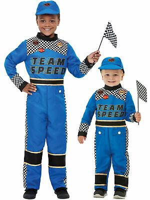 üm Jungen Mädchen Kleinkind Formel 1 Overall Kostüm Blau (Cars Kleinkind Kostüm)