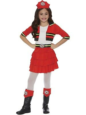 Fire Girl Costume Halloween (Girls Red Fire Girl Wild Fire Ruffle Halloween Dress)
