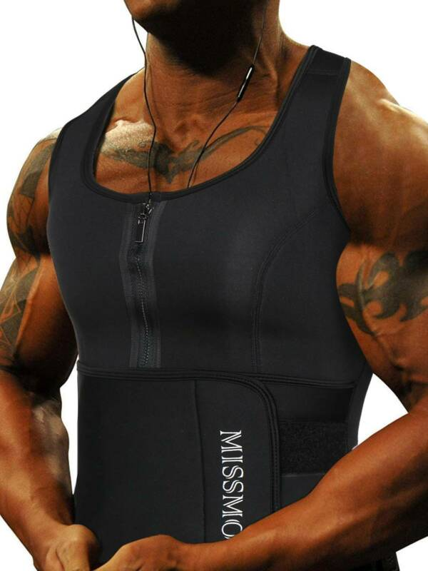 Men Sweat Sauna Waist Trainer Shaper Weight Loss