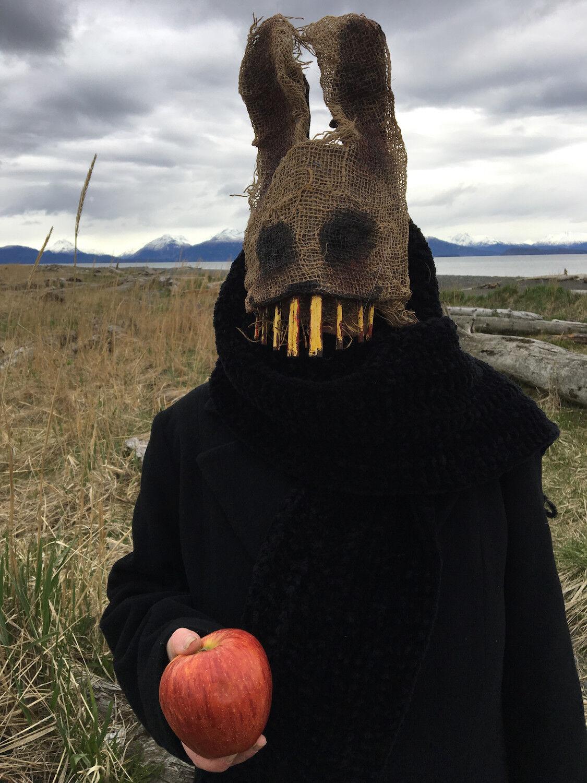 Creepy Easter Bunny Rabbit Mask - Burlap Adult Halloween Mas