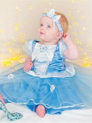Baby Kleinkind Mädchen Disney Prinzessin Cinderella Kostüm Pluderhose (Kleines Mädchen Cinderella Kostüme)
