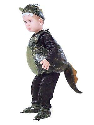 Toddler Boys & Girls Plush Dragon Halloween Costume Body, Hat & Shoes 2T (Girl Dragon Costume Toddler)