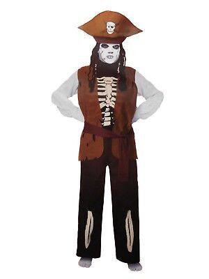 Halloween Costumes Skeleton Pirate (Skeleton Pirate Halloween Costume Boy's Plus size Jack)