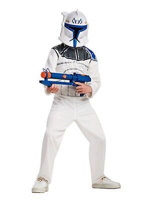 Star Wars Clone Wars Boys Clone Trooper Captain Rex Halloween Costume - Star Wars Captain Rex Halloween Costume