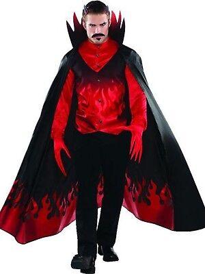 Herren Unheimliche Blood Roter Teufel Teufel Traditionell Halloween Kostüm S-XL