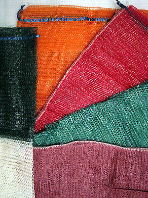 500 Knitted Net Bags 46x59cm sacks for veg log wood kindling logs Free Posting