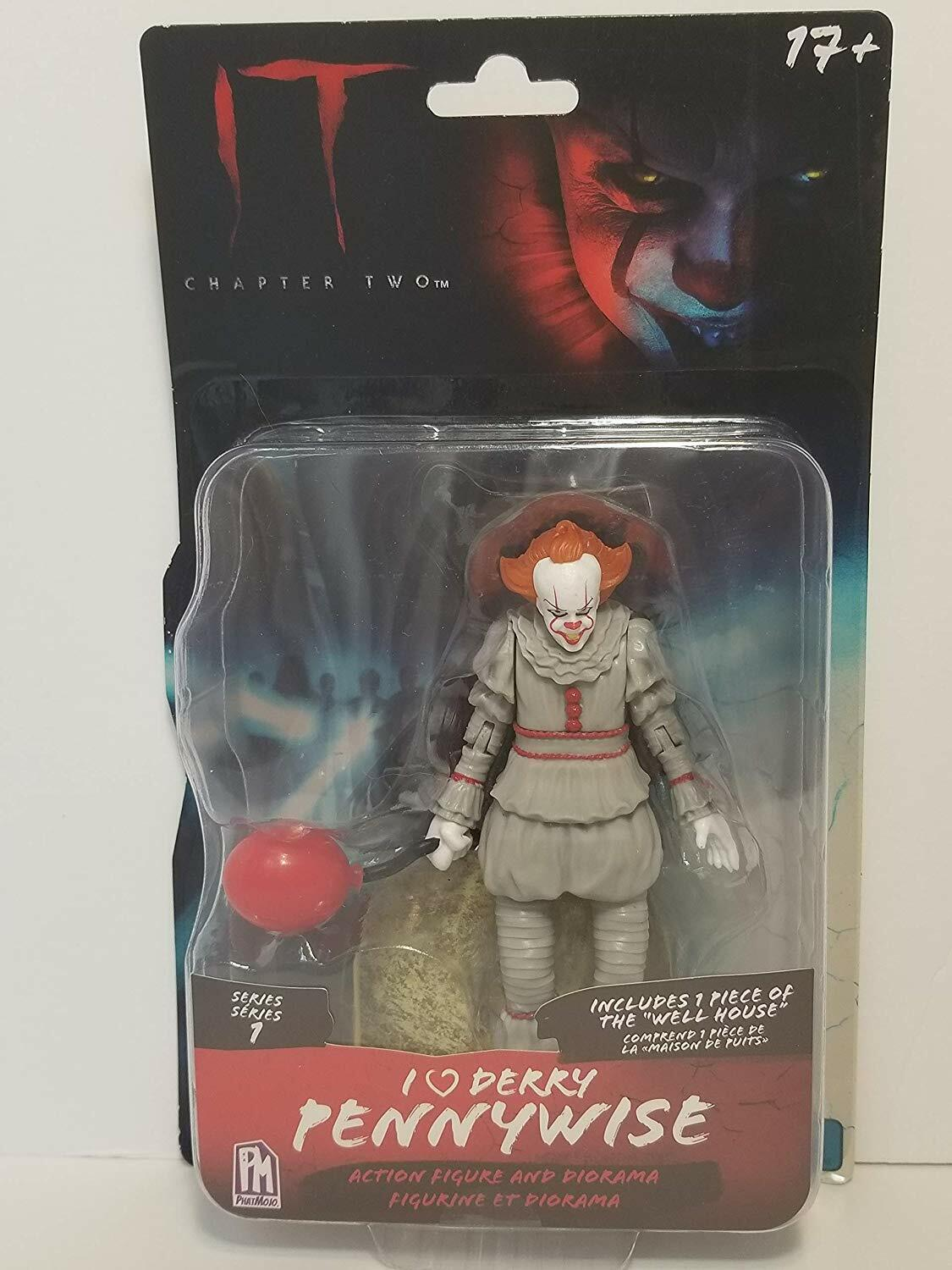 """Le chapitre 2 Pennywise I LOVE Derry Pennywise Series 1 Action Figure 5/"""" phatmojo"""