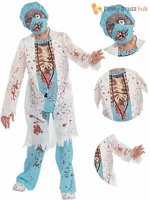 Boys Deluxe Zombie Doctor Costume Teen Bloody Surgeon - Halloween Kostüme Teen Boys