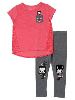 Toddler Girls Love You To Pieces Outfit Frankenstein Monster Shirt & - Frankenstein Outfits