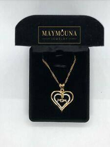 """Gold Plated """"mom"""" necklace BNIB"""