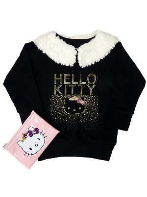 Hello Kitty Girls & Toddler Sparkly Shirt With Faux Fur &...