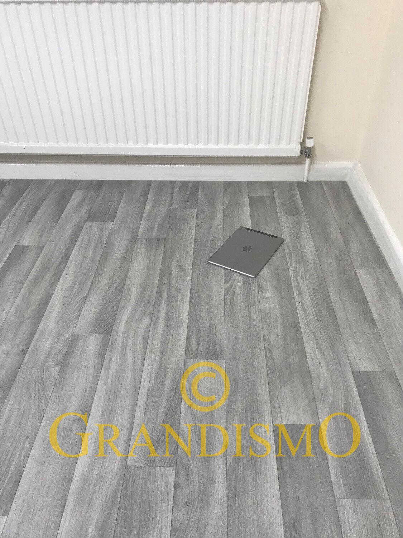 Grey - 2metre Width - Vinyl / Lino Flooring For Bathroom ...