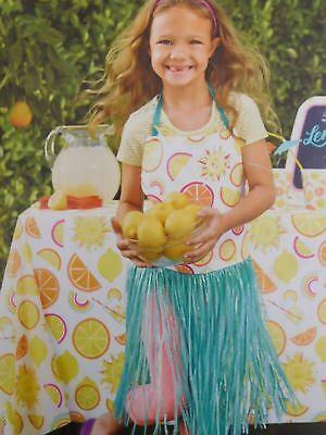 Childs Pretty Lemonade Apron Bib Style With Hula Skirt - Kids Cooking