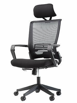 Office Factor Mesh Back Office Chair With Headrest- Folding Office Chair- Ergon