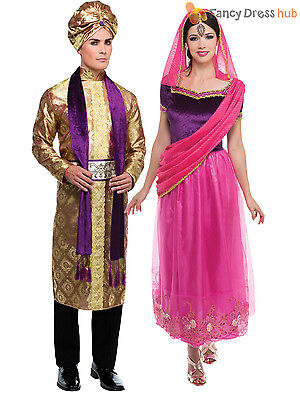 Adult Bollywood Costume Men Ladies Arabian Fancy Dress Woman Belly Dancer Outfit