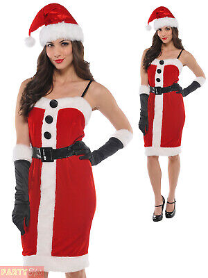 Ladies Mrs Santa Claus Costume Adults Christmas Jolly - Jolly Santa Kostüme