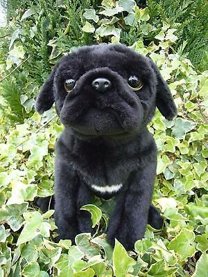 Black Pug Stuffed Animal (Cute Pug (Black) Soft Toy 12