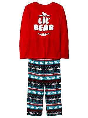 Toddler & Little Boys Lil Bear Fair Isle Holiday Pajama Set (Holiday Toddler Pajamas)