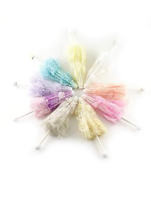 4 Lavender Lace Umbrellas Parasols Wedding Baby Shower Favor 12