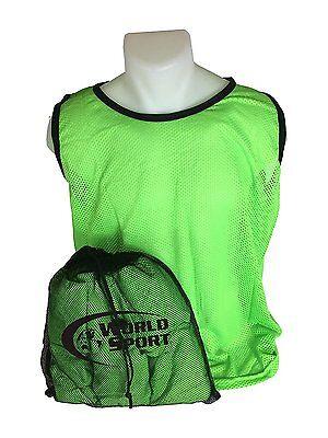 12 Pack Adult GREEN Blank Scrimmage Vests pinnies bibs soccer football  lacrosse 15bae090bec0e