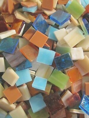 Hand Cut SOUTHWEST MIX Stained Glass Mosaic Scrap Pack, 100 PIECES