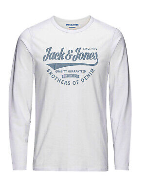 Jack & Jones Herren Langarmshirt JORBERLIN Slim Fit S M L XL XXL Weiss Grau Blau online kaufen