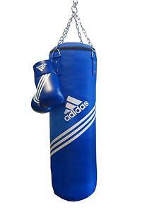 Boxing Set  Adidas Blue Corner Adibac11SMU Boxsack 80x30cm und 10oz Handschuhe