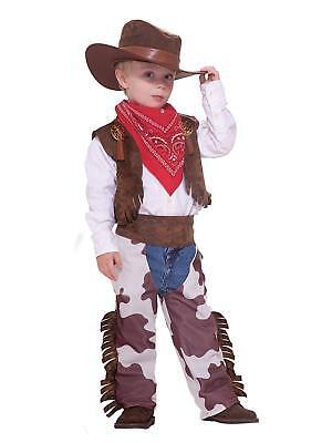 Cowboy Kid Wild West Vest Chaps Western Fancy Dress Up Halloween Child - Kids Dress Up Cowboy Kostüm
