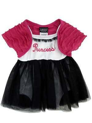 Baby Glam Infant Girl Princess Creeper Tulle Skirt Dress Caplet 2 Piece Set