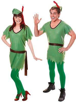 Robin Hood Costume Elfo Uomo Donna Costume Natale Unisex Completo