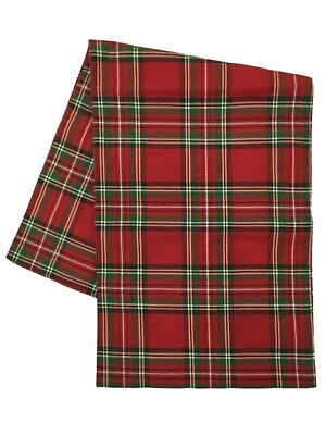 Holiday Home Christmas Table Runner Tartan Red Plaid 13x72](Red Christmas Table Runner)